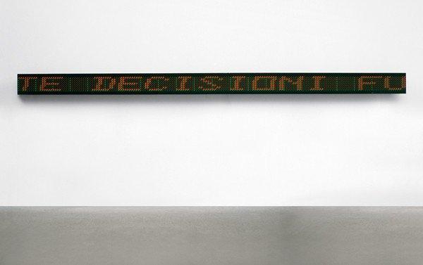 210: JENNY HOLZER, Untitled, 1990