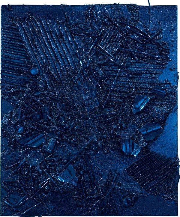 215: ANSELM REYLE, Untitled (Turquoise/ Black), 2007