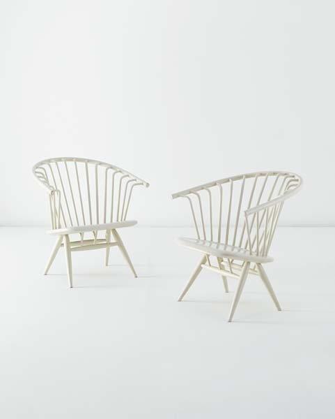 5: ILMARI TAPIOVAARA,Pair of 'Crinolette' chairs,circa.