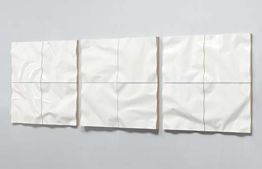 7: JOUKO KÄRKKÄINEN,Unique triptych of 'Ply Wall Elemen