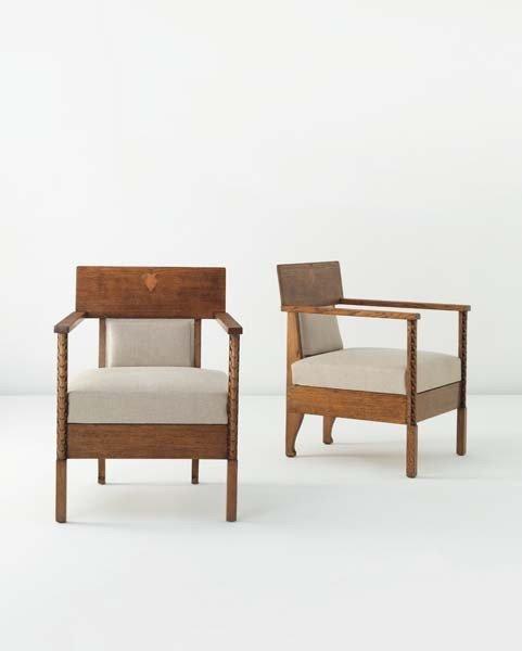 9: ELIEL SAARINEN,Pair of armchairs,circa. 1910