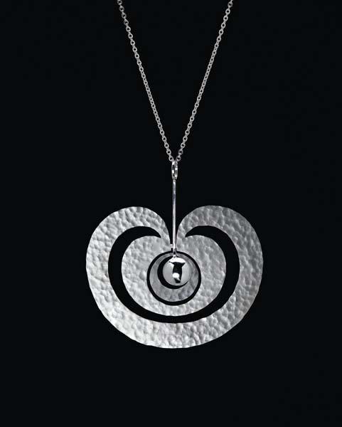 11: TAPIO WIRKKALA,Rare 'Omena' (Apple) pendant, model