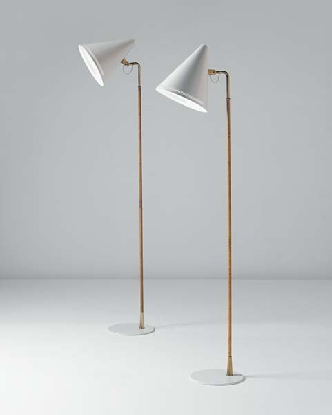 16: PAAVO TYNELL,Pair of standard lamps,circa. 1940s