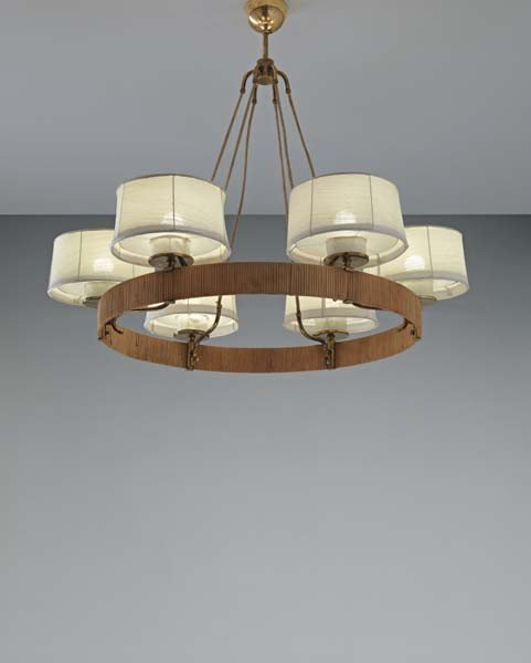 17: PAAVO TYNELL,Chandelier,circa. 1950s