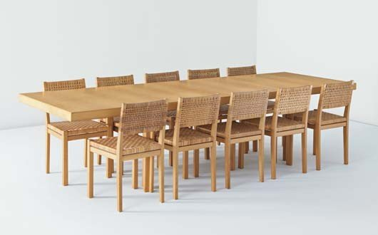 20: ALVAR AALTO,Extendable 'H Leg' dining table,circa.