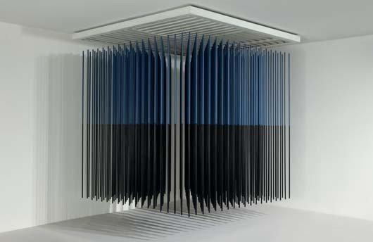 22: JESÚS RAFAEL SOTO, Cubo virtual azul y negro (Virtu