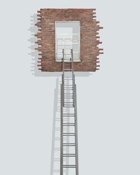 24: LEANDRO ERLICH, Window and Ladder- Too Late for Hel