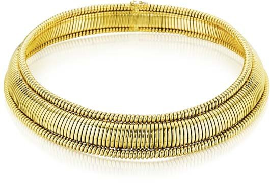 1: A Gold Choker Necklace