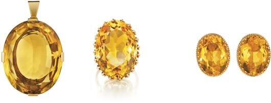 19: A Suite of Citrine Jewelry