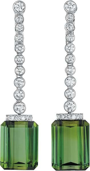 24: ALETTO BROTHERS, A Pair of Tourmaline and Diamond E