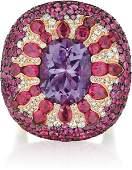 SALAVETTI, An Amethyst, Ruby and Diamond Ring