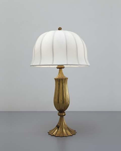 1: DAGOBERT PECHE, Rare table lamp, model no. M 3566-M