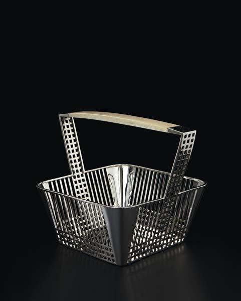 "3: JOSEF HOFFMANN, ""Gitterwerk"" basket, model no. S 509"