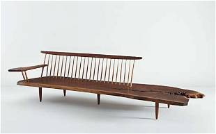"""40: GEORGE NAKASHIMA, Early """"Conoid"""" bench with single"""