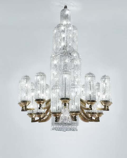 """63: GEORGES CHEVALIER, The """"Jets d'eau"""" chandelier, fro"""