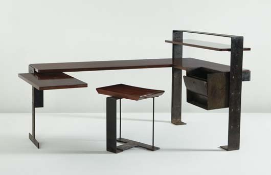 66: PIERRE CHAREAU, Important desk, model no. MB 405, a