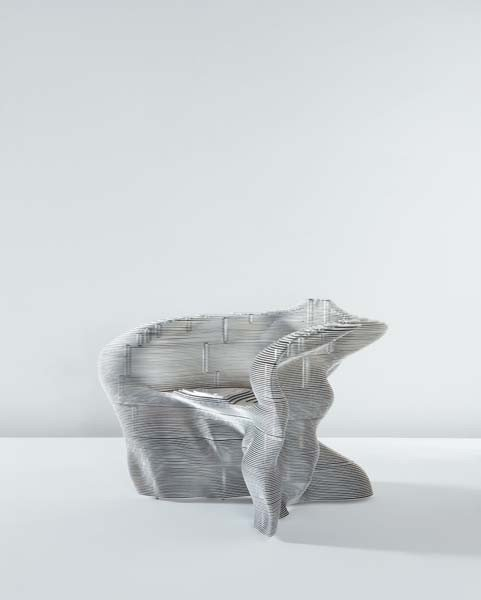 "203: MATHIAS BENGTSSON, ""Slice"" armchair, ca. 1999"