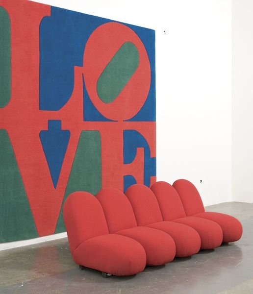 1:  ROBERT  INDIANA  b. 1928  Classic Love.  Signed and