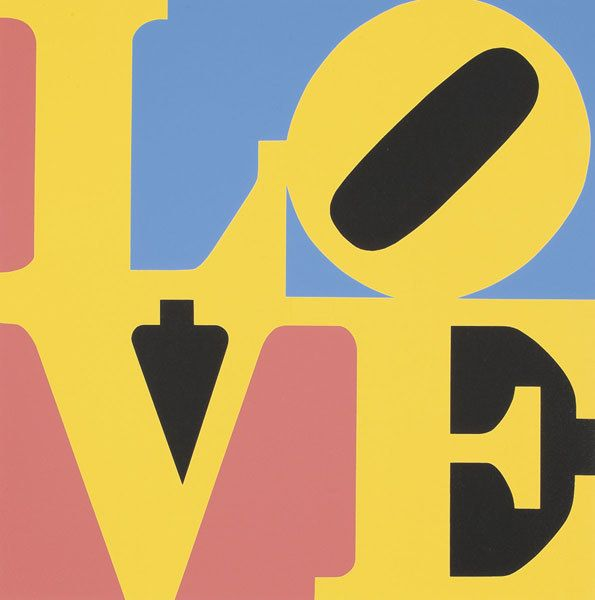 ROBERT INDIANA b. 1928 The Book of Love (Two W