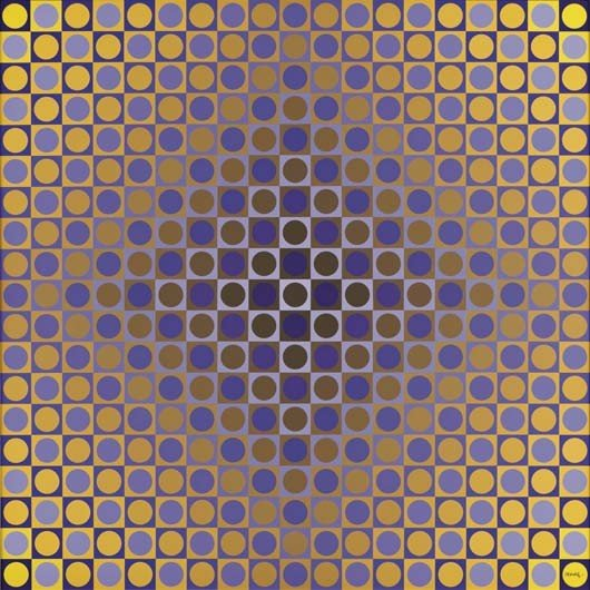6: VICTOR VASARELY,Alom Violet/Yellow, 1975