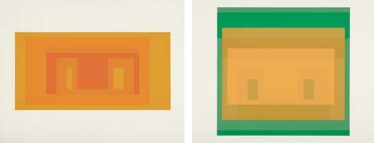 13: JOSEF ALBERS,I-S Va 4; and I-S Va 6, from Six Varia