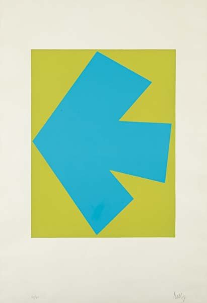 17: ELLSWORTH KELLY,Blue Over Green, from Suite of Twen