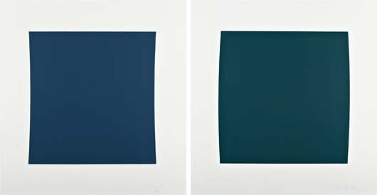 21: ELLSWORTH KELLY,Diptych: Dark Blue/Dark Green,2001