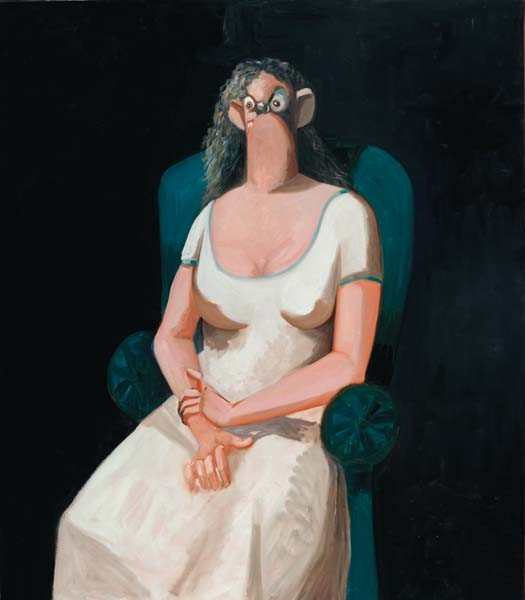 14: GEORGE CONDO, Woman in Blue Chair, 2007