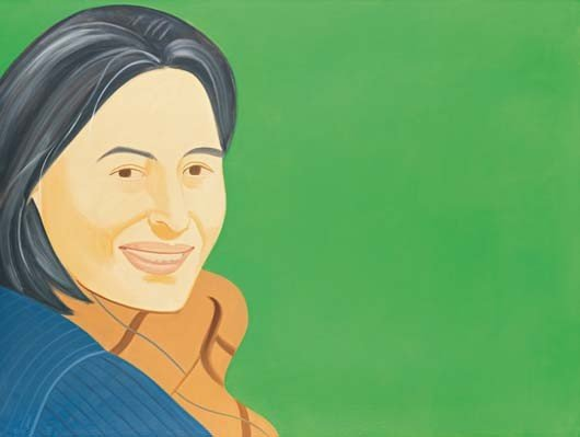 25: ALEX KATZ, Ada on Green, 2002