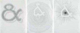 TAUBA AUERBACH, Ampersand (Triptych), 2004