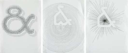 102: TAUBA AUERBACH, Ampersand (Triptych), 2004