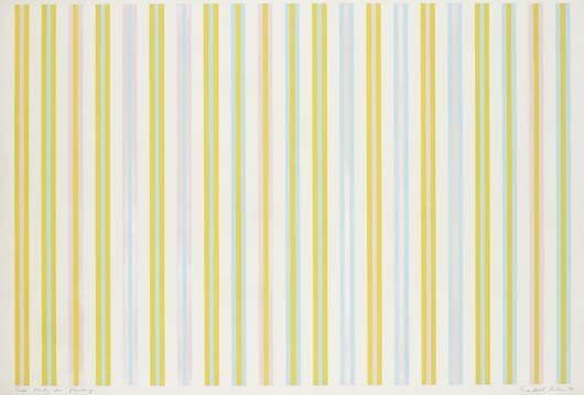 123: BRIDGET RILEY, Scale Study for Painting, 1972