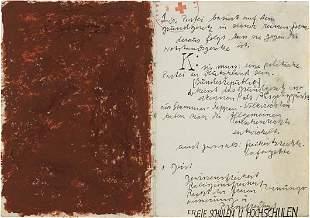 144: JOSEPH BEUYS, Untitled (Manifest), c. 1966