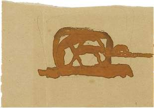 145: JOSEPH BEUYS, Horse with Sheep in Background, 1956
