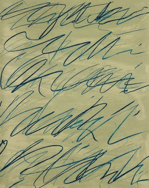 232: CY TWOMBLY, Roman Notes VI from Roman Notes, 1970