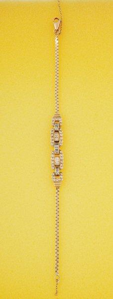 15:  A Diamond–Set Bracelet The central articulat