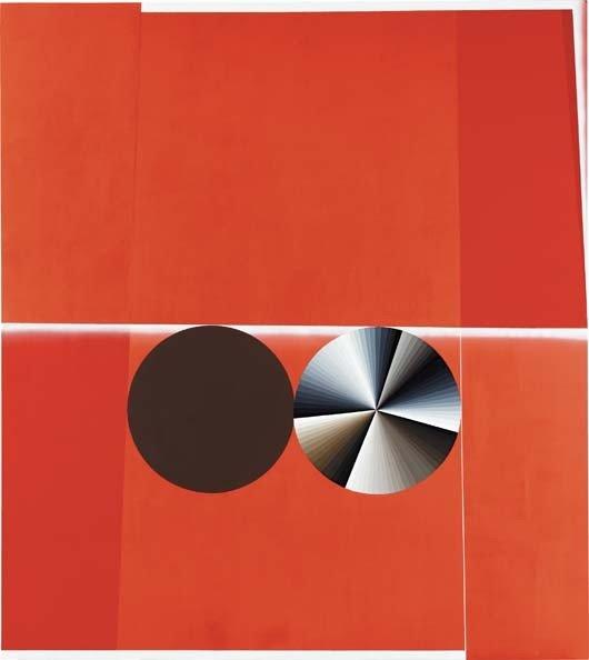 2: GARTH WEISER, Double Circle #1 (Red, Brown, White, G