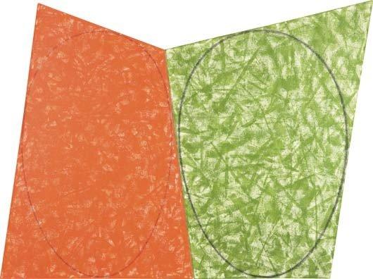 13: ROBERT MANGOLD, Study for Red Ellipse Green Ellipse