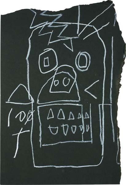 23: JEAN-MICHEL BASQUIAT, Untitled (Skull), 1981