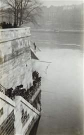 2: ANDR� KERT�SZ, Fishermen Behind Notre Dame, Paris, 1