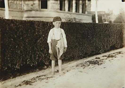 9: LEWIS WICKES HINE, Six year old newsboy. Raymond Mil