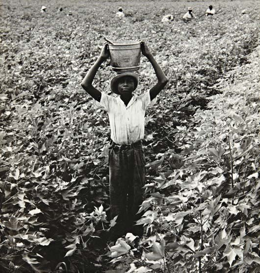 21: DOROTHEA LANGE, Water Boy, Mississippi Delta, 1938