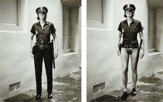 105: HELMUT NEWTON, Evi the Cop, Beverly Hills, 1996