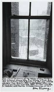 201: ALLEN GINSBERG, View out of my kitchen window, Jan