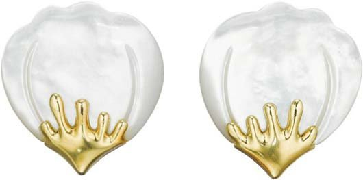 4: TIFFANY & CO., A Pair of Mother-of Pearl and Gold Ea