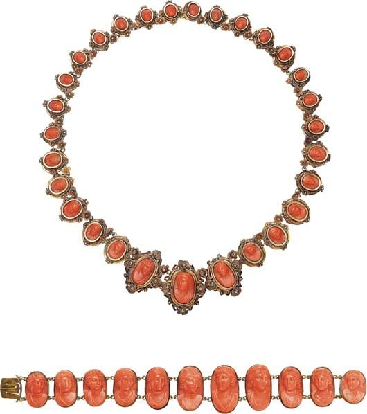 6: A Set of Coral Jewelry.