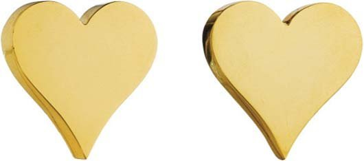 14: A. CIPULLO, A Pair of Gold Heart Earclips.