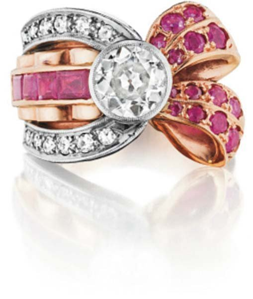 19: A Diamond and Ruby Ring.