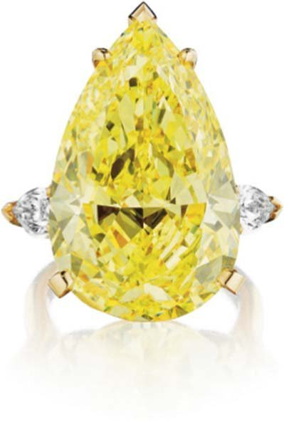 206: A Superb Fancy Intense Yellow Diamond Ring.