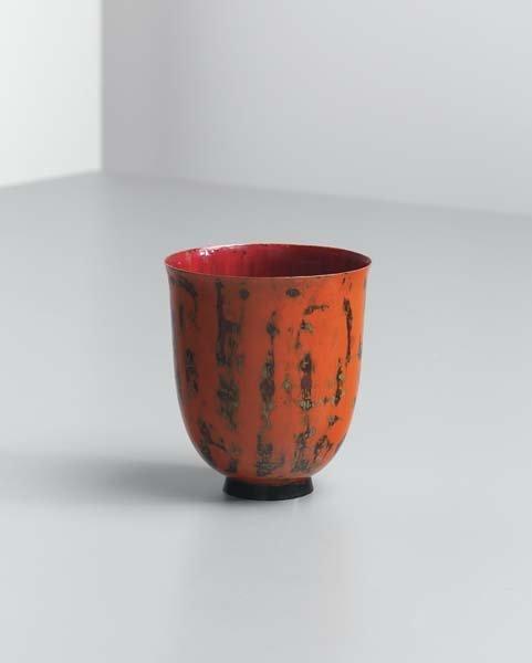 3: JEAN DUNAND, Small footed vase, circa 1920